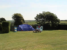 Campers at Looe Country Park