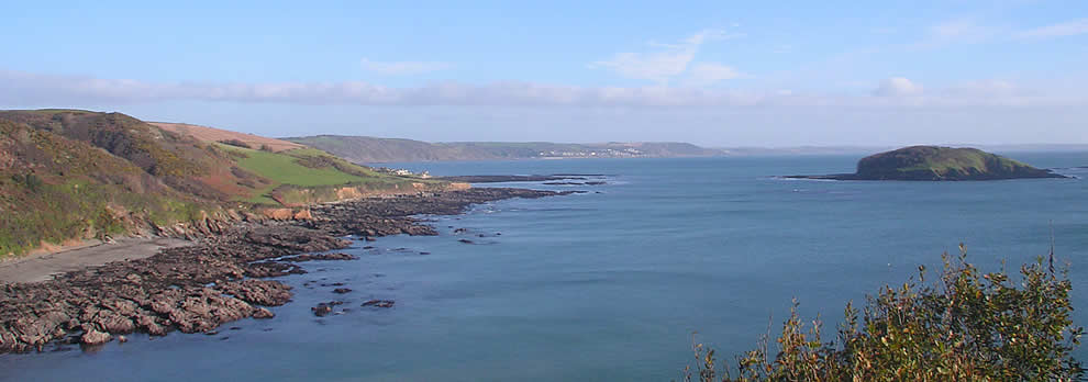 Views along the coast to the east of Looe